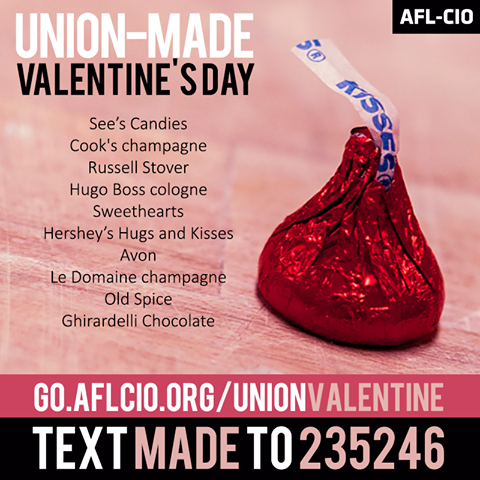 Union-made Valentine's Day shopping list.