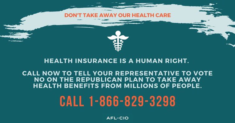 Don't take away our health care