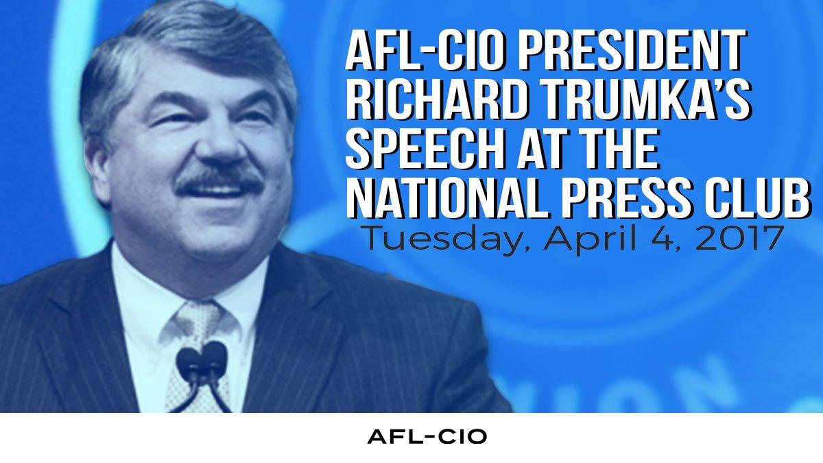 Promo for President Trumka's NPC Speech
