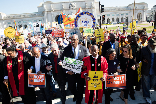 Union and civil rights leaders call on Congress to protect our democracy and right to vote.