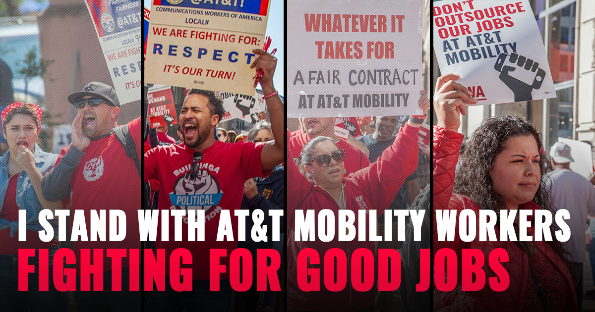 AT&T Workers Fighting For Good Jobs