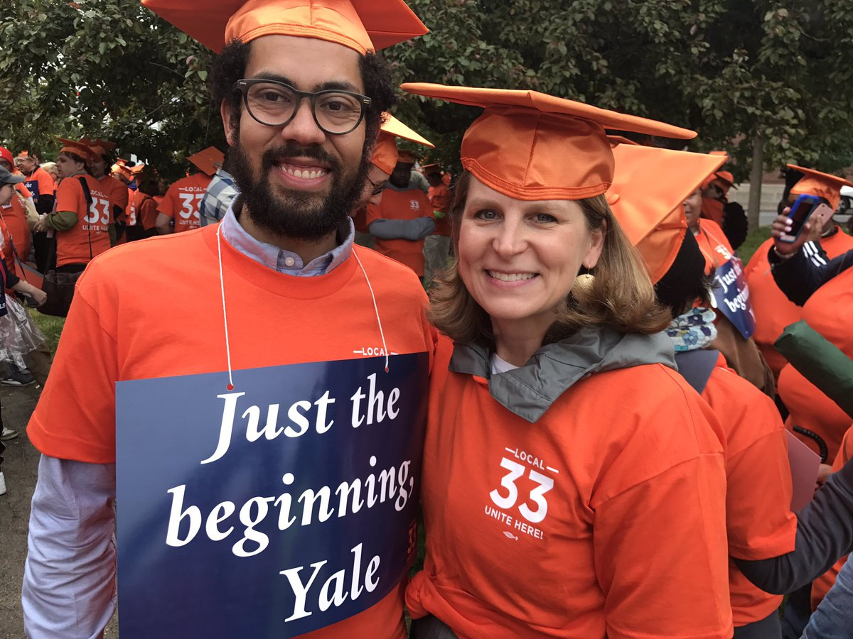 Liz Shuler joins graduate teachers who voted for a union at Yale.