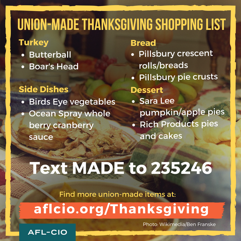 Union Made Thanksgiving