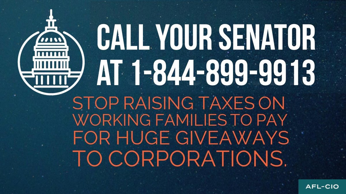 Call Your Senator on the Tax Bill