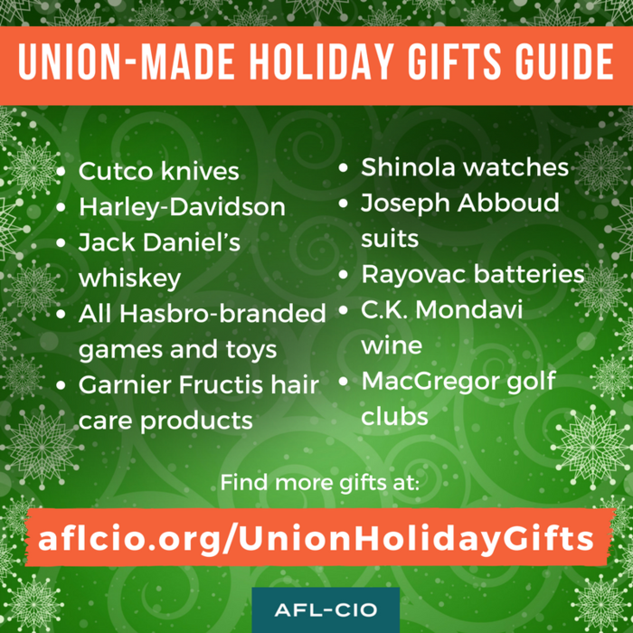 Union-made holiday buying guide