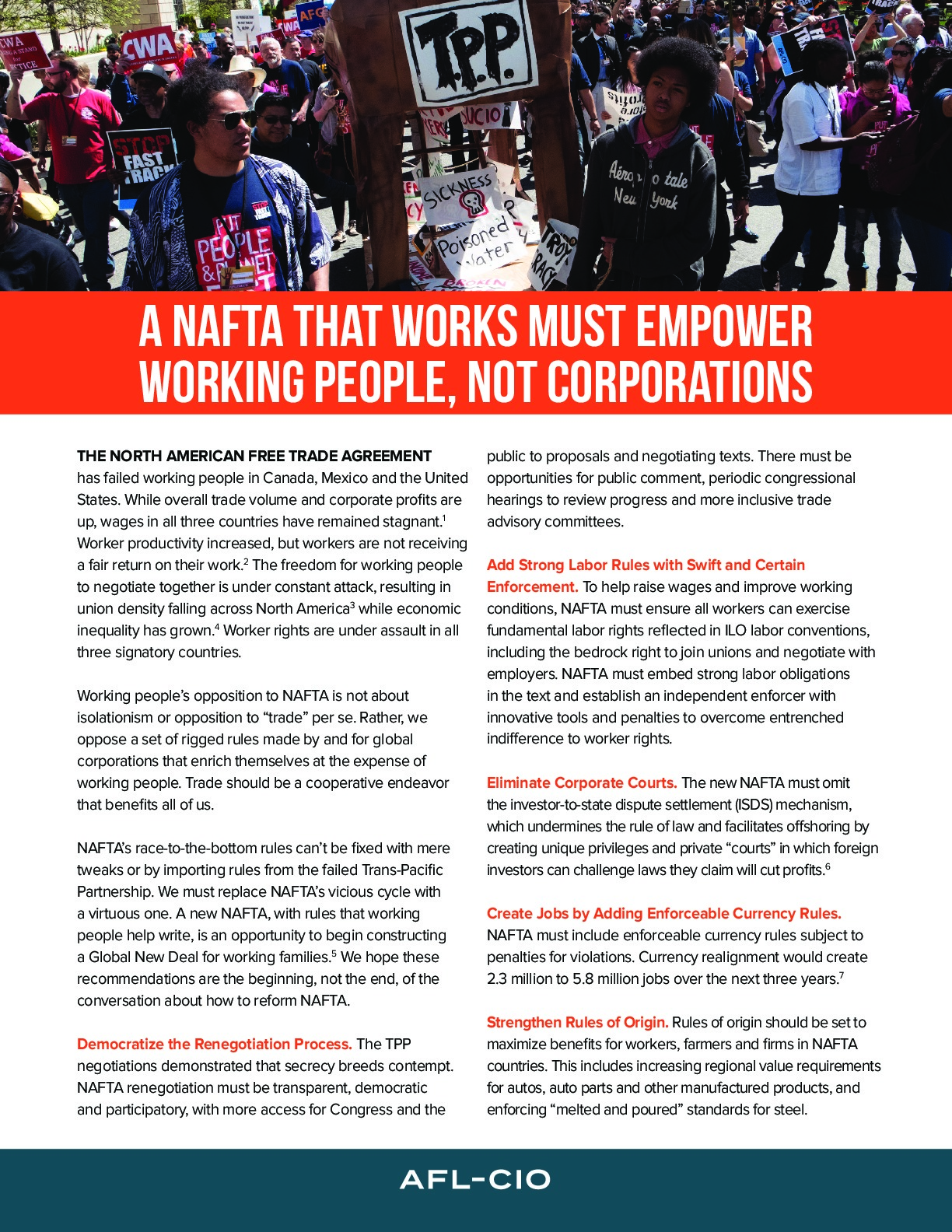 A Nafta That Works Must Empower Working People Not Corporations