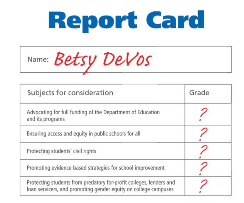 Betsy DeVos' Report Card
