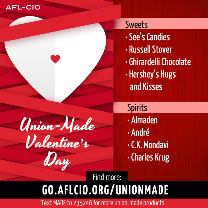 Union-Made Valentine's Day