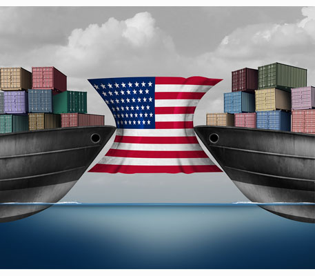 America squeezed by trade