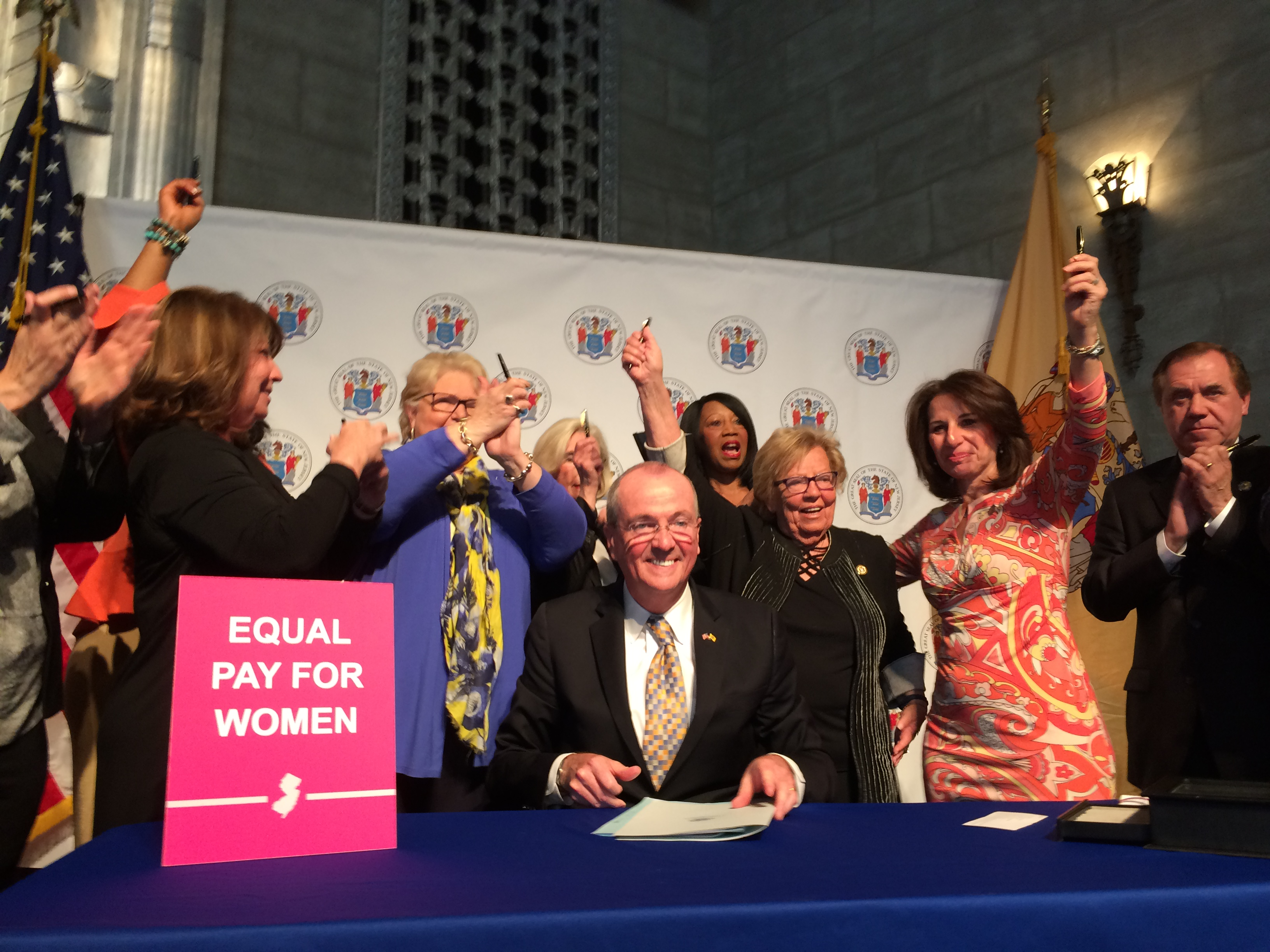 New Jersey equal pay bill signing