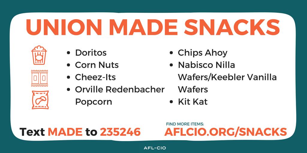 Union-Made Snacks