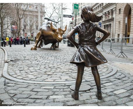Wall Street bull girl