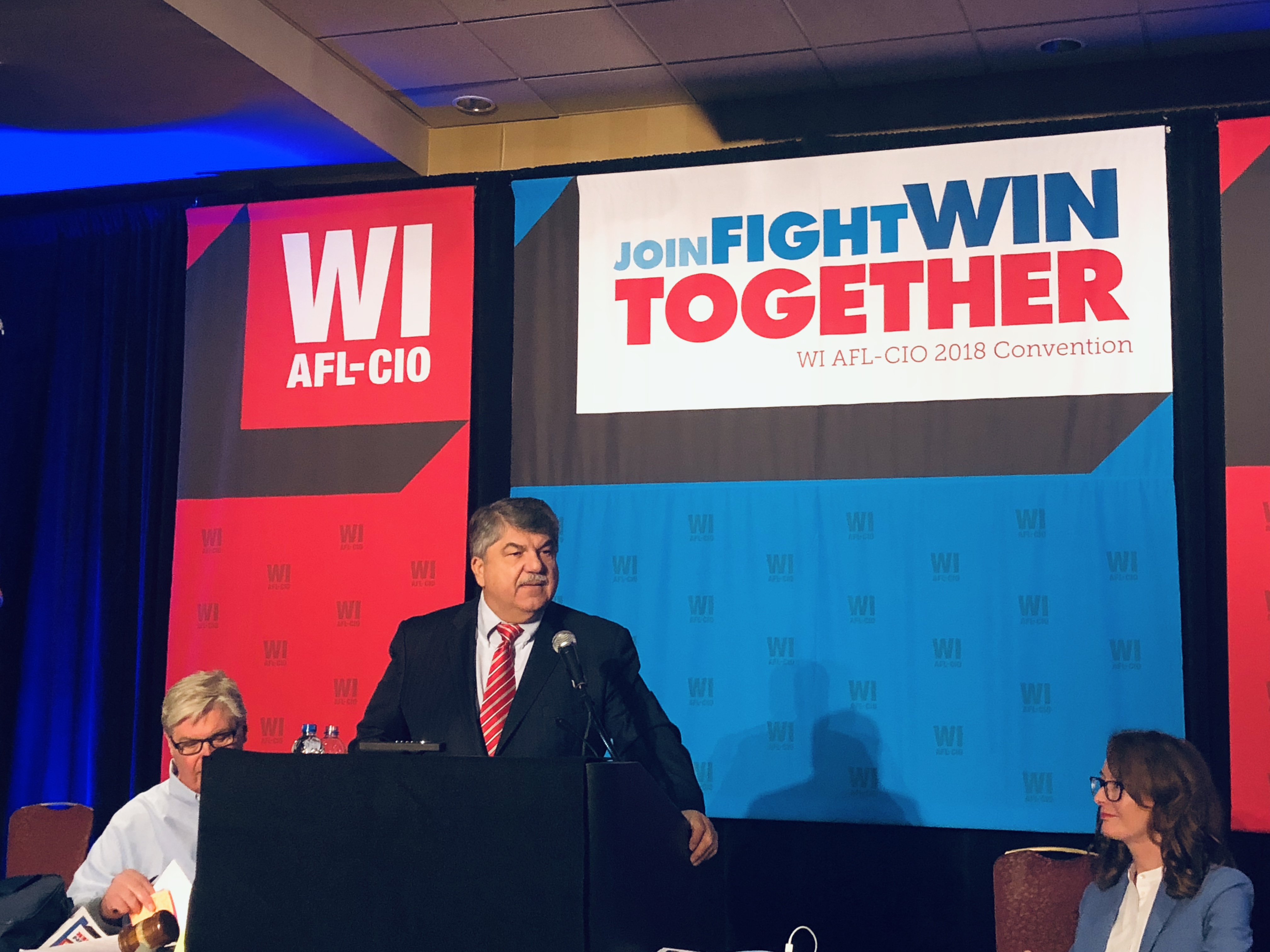 AFL-CIO President Richard Trumka speaks to the Wisconsin AFL-CIO Convention.