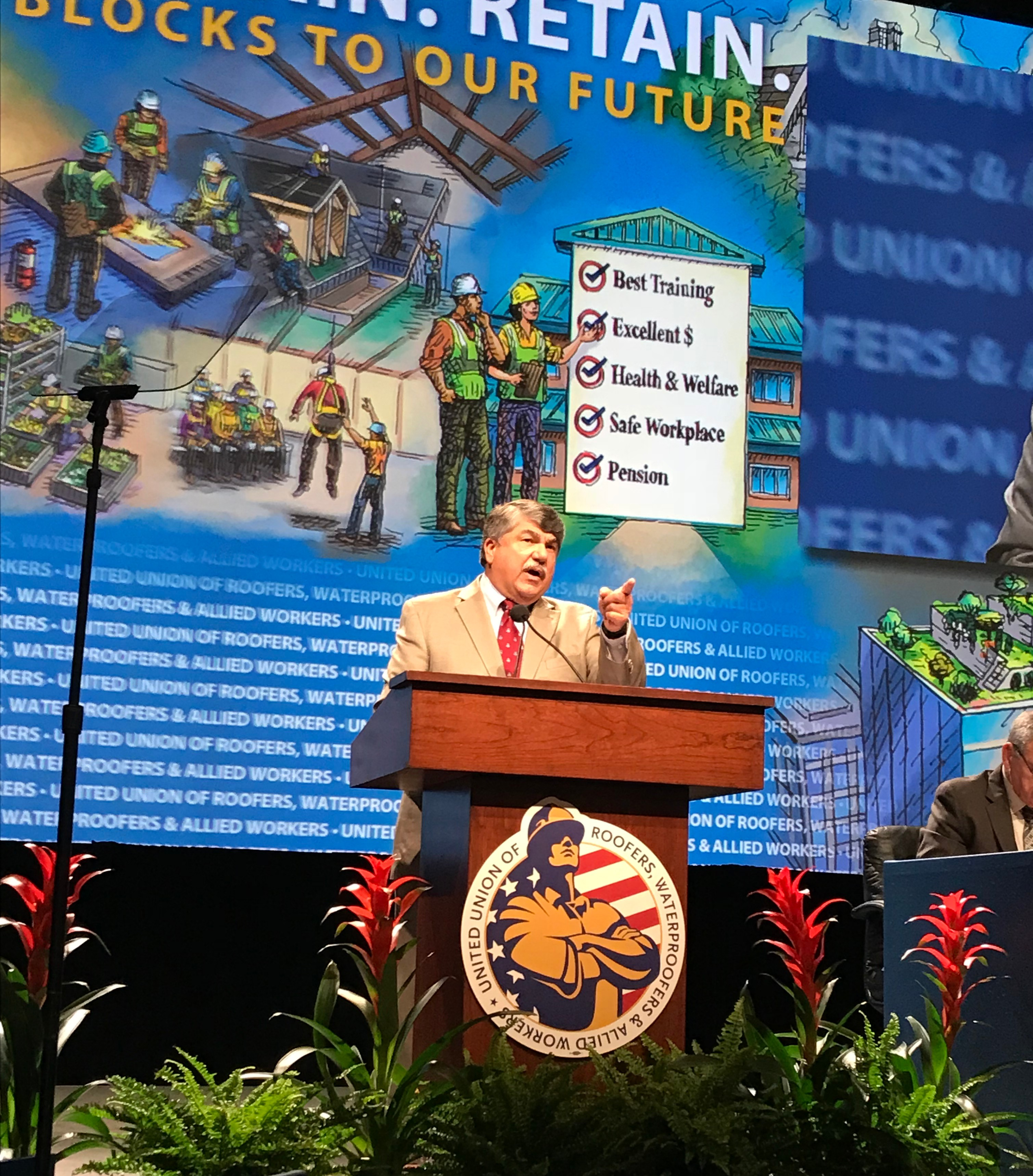 President Trumka addressed the Roofers and Waterproofers convention.