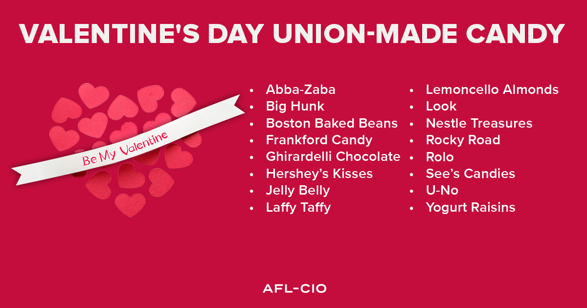 Valentine's Day Union-Made Candy