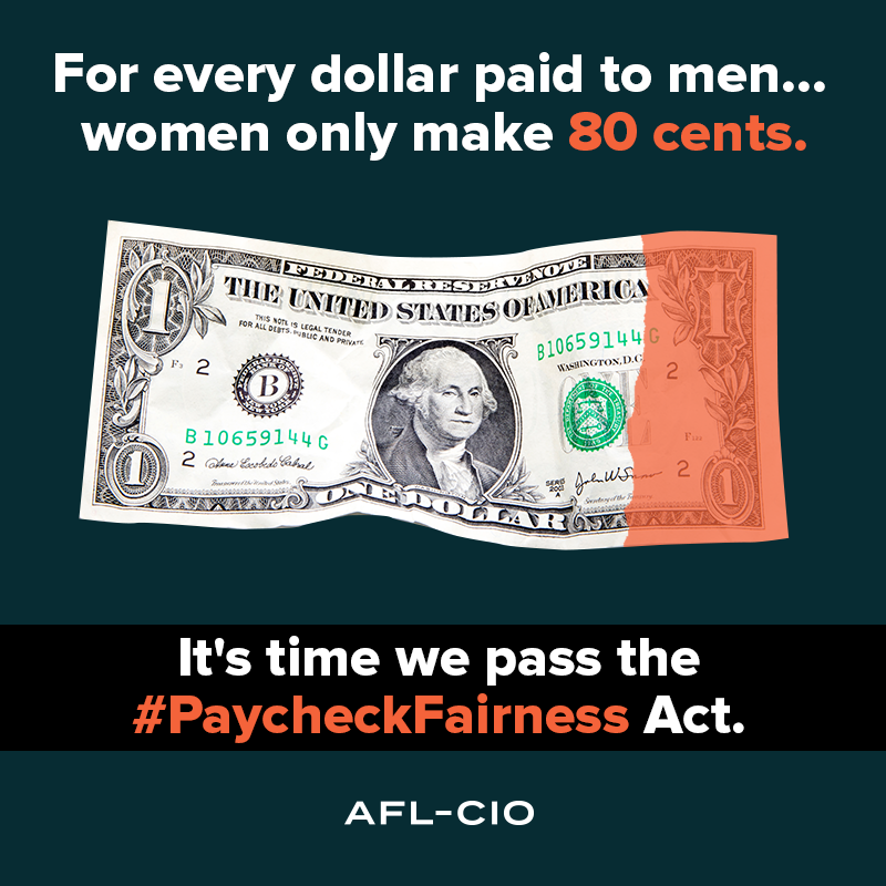 It's time to pass the Paycheck Fairness Act.
