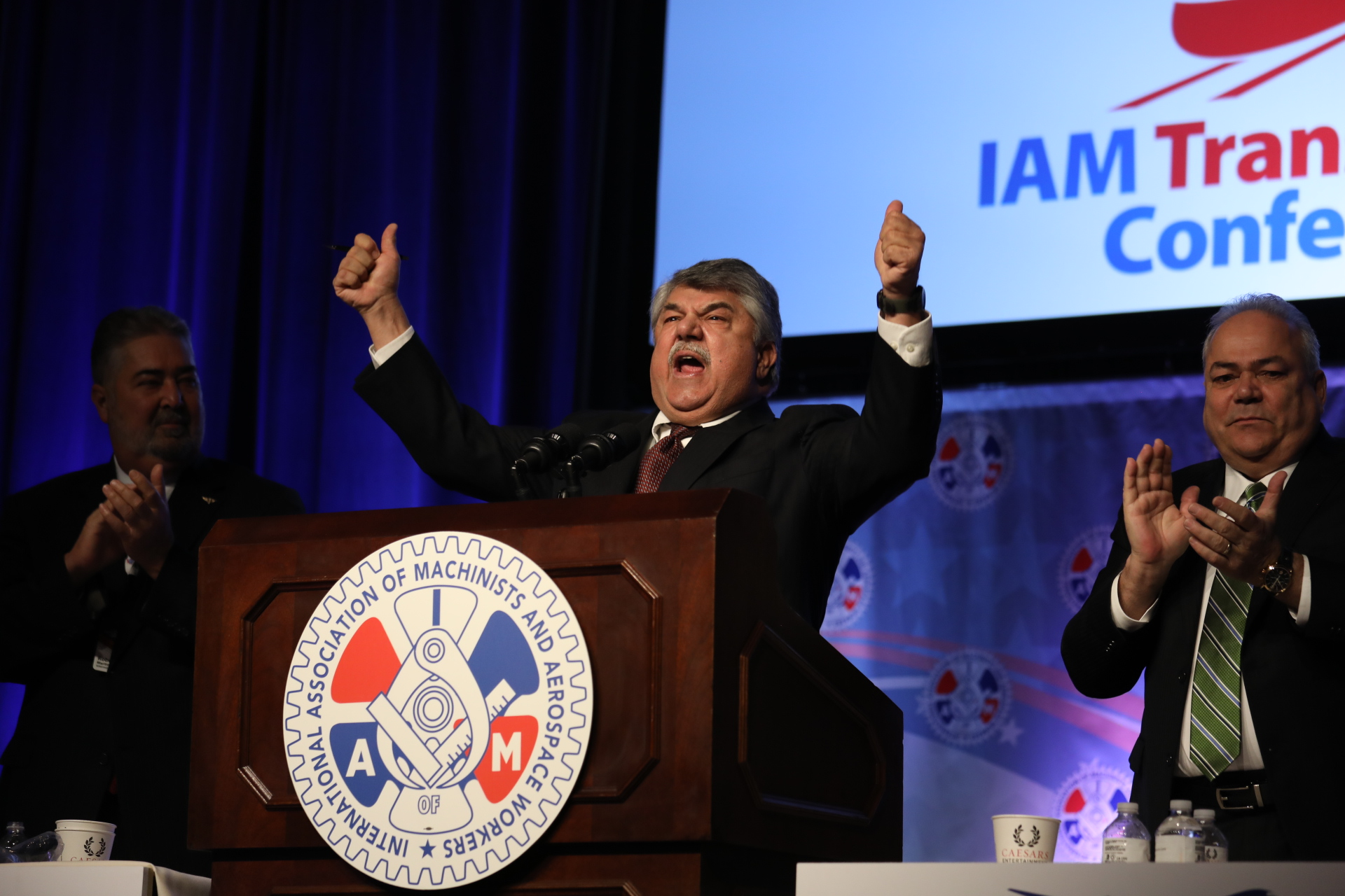 AFL-CIO President Richard Trumka fires up the IAM Transportation Conference.