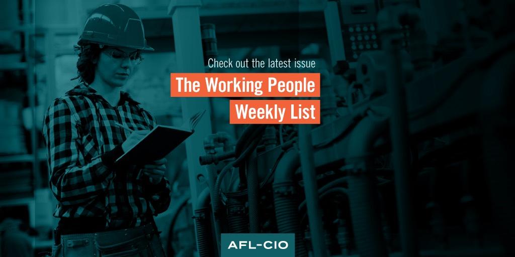 Working People Weekly List