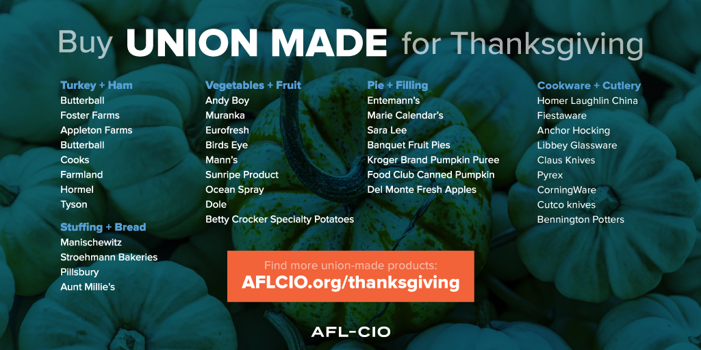 Union-Made Thanksgiving