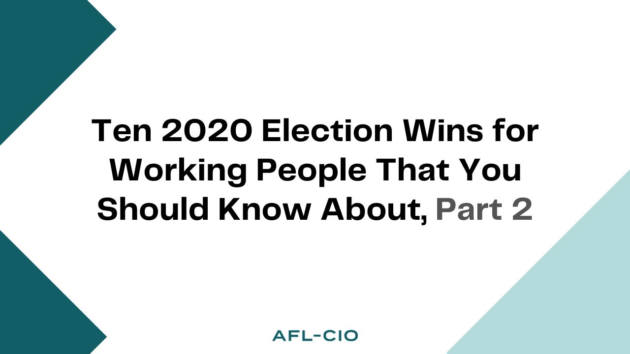 2020 Election Wins Part 2