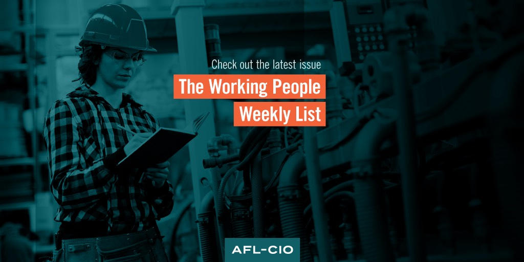 A Very Bad Joke: The Working People Weekly List