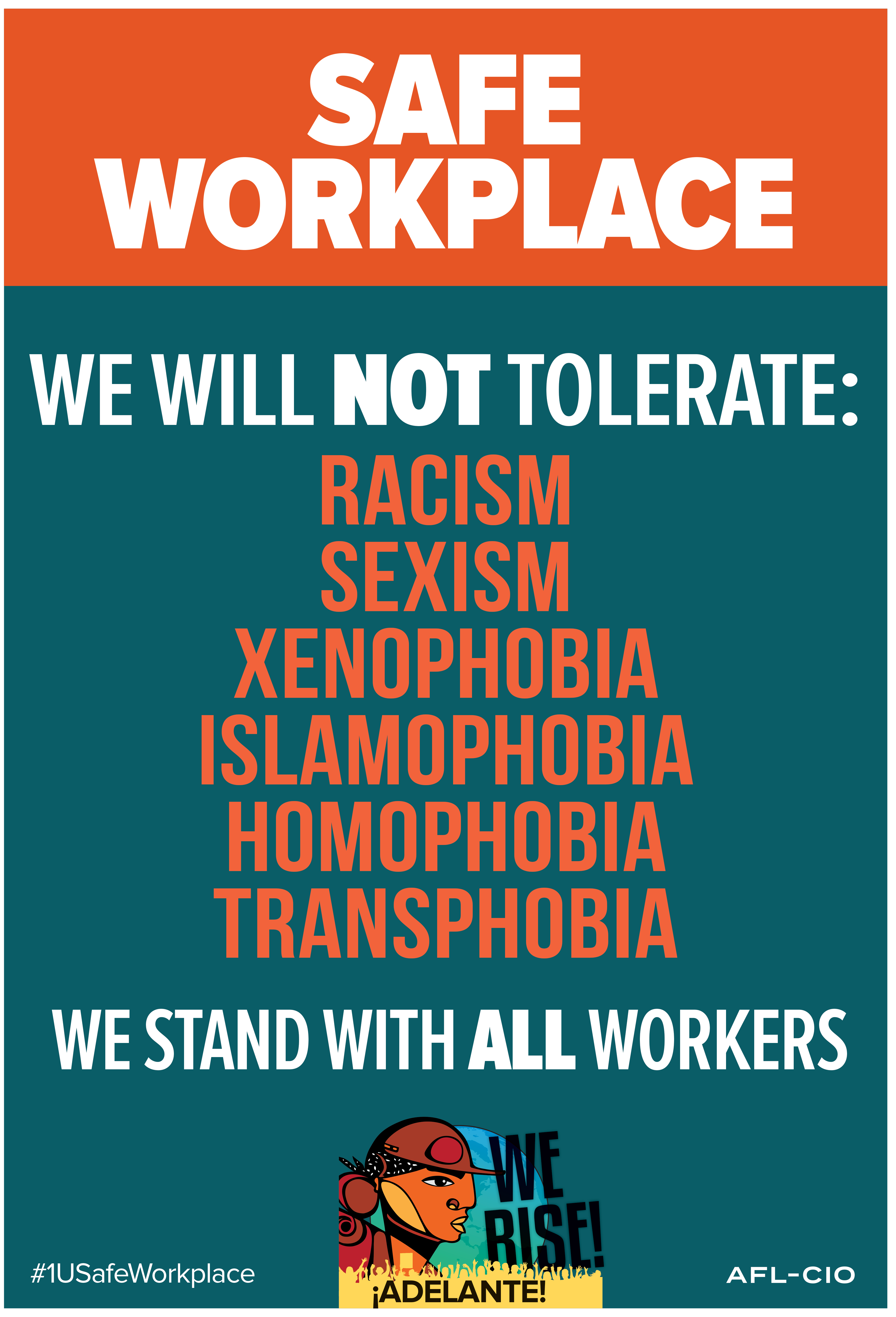 Safe Workplace Poster