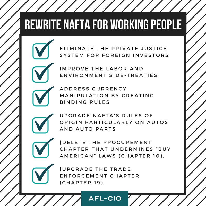 6 Ways We Could Improve Nafta For Working People Afl Cio