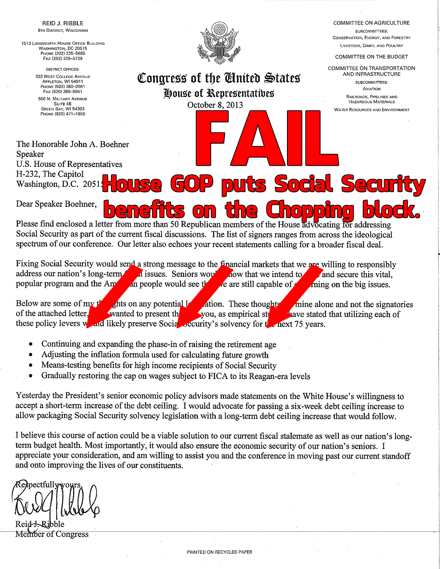 Social Security Letter Of Benefits.You Ll Never Guess What S In The Latest Republican Ransom